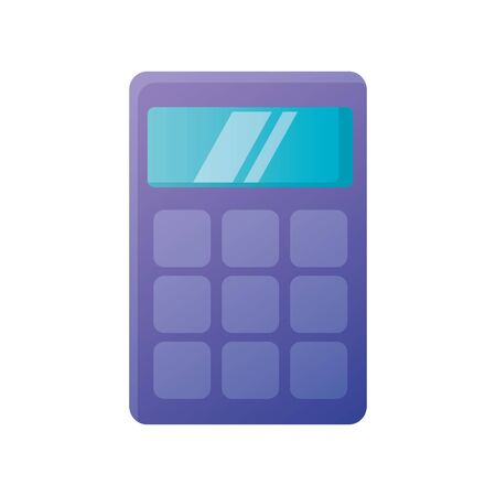 Calculator tool design, Mathematics finance device electronic education office object and accounting theme Vector illustration Ilustração