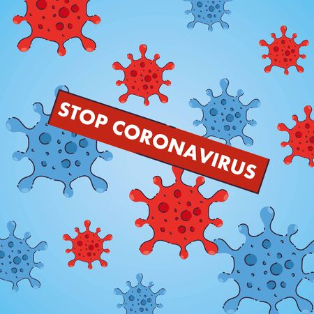 coronavirus stop, covid 19, dangerous cells background 2019 ncov vector illustration design
