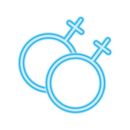 lesbian gender symbol design, Pride day love sexual orientation and identity theme illustration