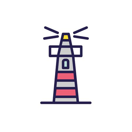 light house marine isolated icon vector illustration design Ilustração