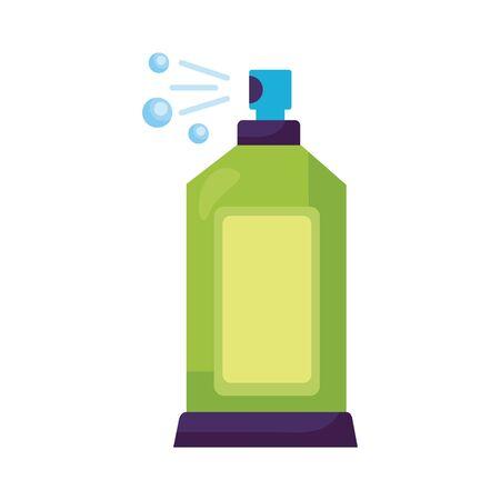 disinfectant spray bottle product detaild style vector illustration design