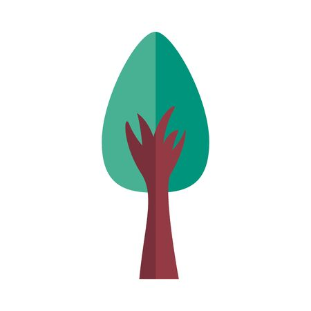 pine tree plant forest flat style icon vector illustration design
