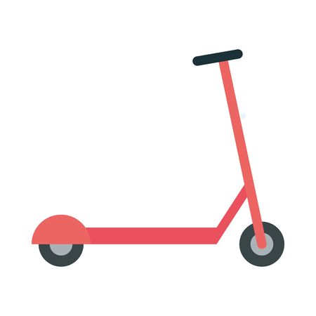 red scooter design, Vehicle bicycle cycle healthy lifestyle sport and leisure theme Vector illustration