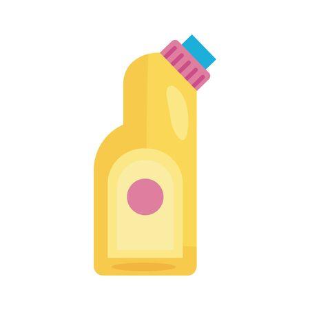 disinfectant plastic bottle product detaild style vector illustration design