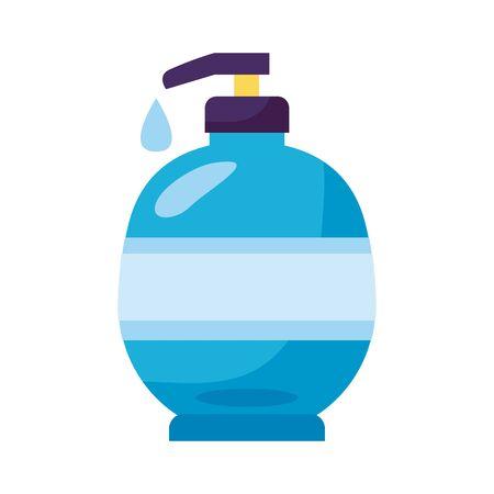 disinfectant plastic bottle product with push dispenser detail style vector design