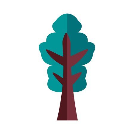 pine tree plant forest flat style icon vector illustration design 向量圖像