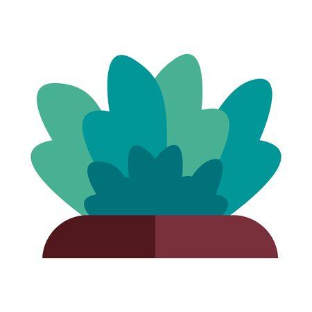 bush garden flat style icon vector illustration design