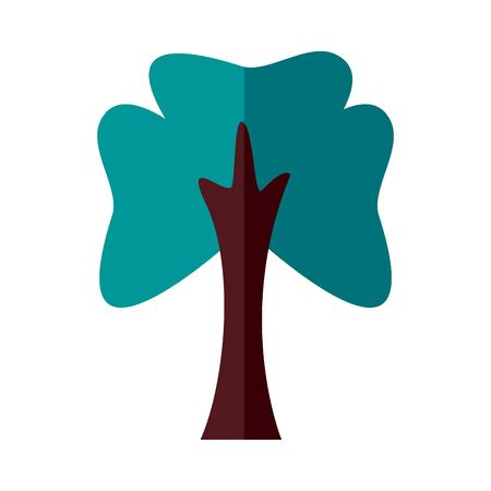 tree plant forest flat style icon vector illustration design