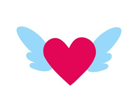 heart love with wings icon vector illustration design Vectores