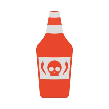 hot sauce bottle isolated icon vector illustration design  イラスト・ベクター素材