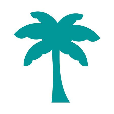 palm tree plant forest silhouette style icon illustration design