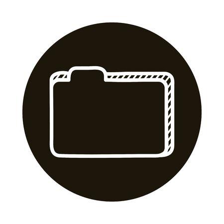 folder document doodle block style icon vector illustration design Çizim