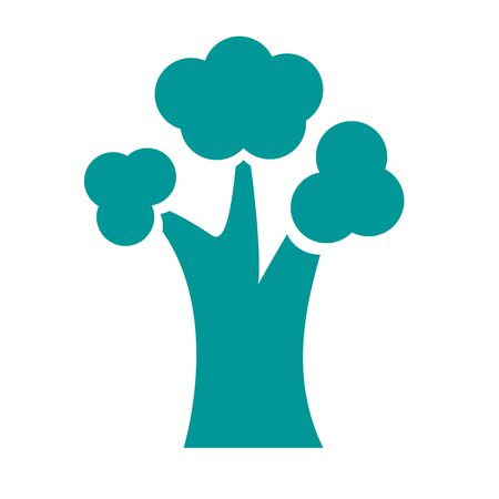 leafless tree plant silhouette style icon vector illustration design