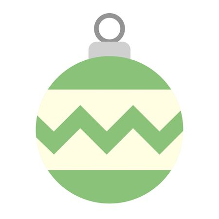merry christmas ball isolated icon vector illustration design