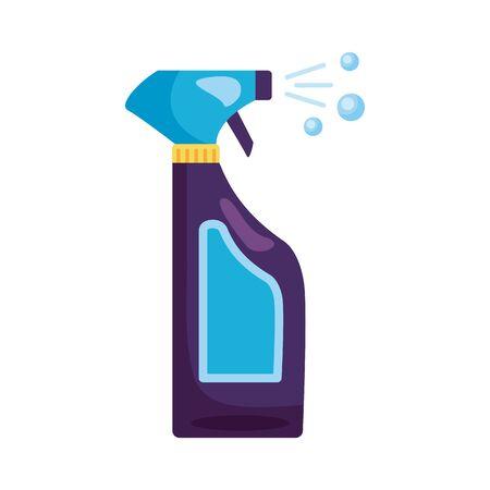 disinfectant spray bottle product details style illustration design Stock Illustratie