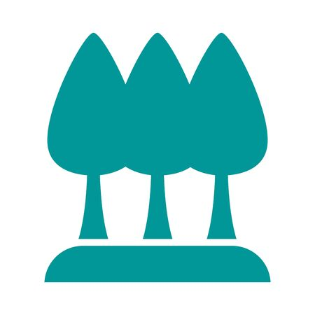 pines trees plants forest silhouette style icon illustration design