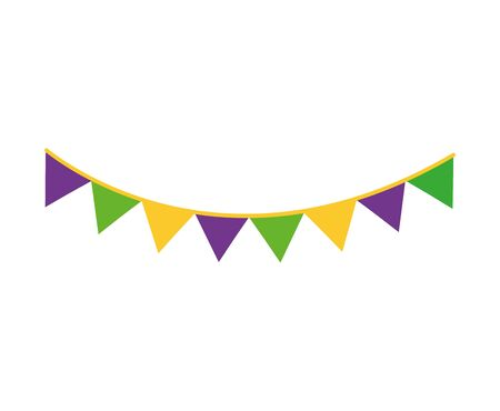 party garlands hanging isolated icon vector illustration design