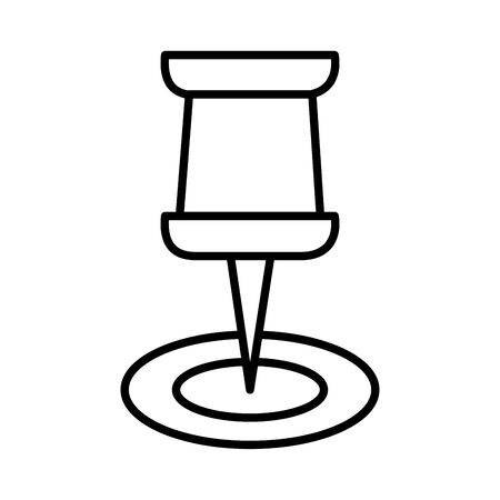 pushpin marker line style icon illustration design Stock fotó - 150382321