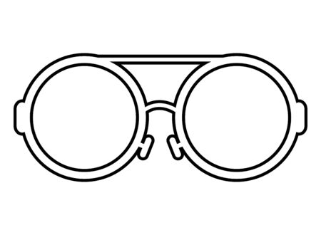 eyeglasses optical accessory isolated icon vector illustration design Vectores