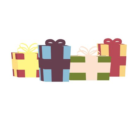 gifts boxes presents isolated icons vector illustration design Ilustração