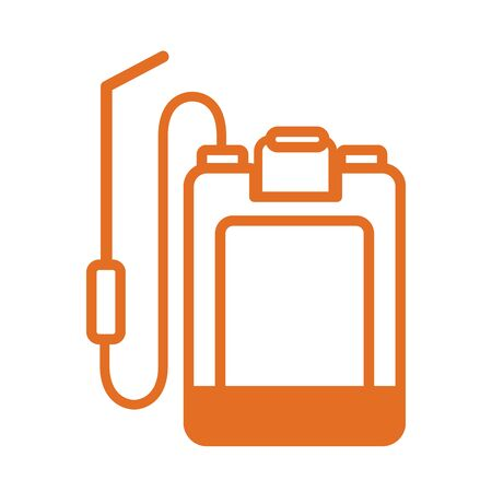 sprayer back line style icon vector illustration design