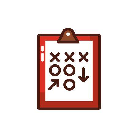 checklist clipboard with arrow icon vector illustration design