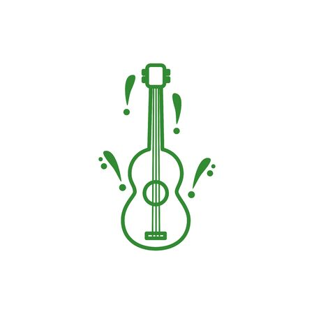 guitar musical instrument isolated icon vector illustration design Stock fotó - 150400475