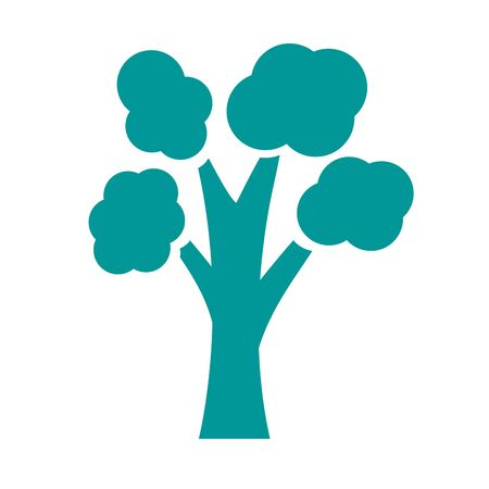 tree plant forest silhouette style icon vector illustration design