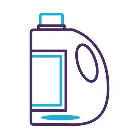 disinfectant plastic bottle product line style vector illustration design Stock Illustratie