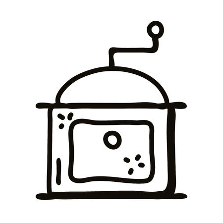 coffee grinder line style icon design, Cook kitchen eat and food theme Vector illustration Illusztráció