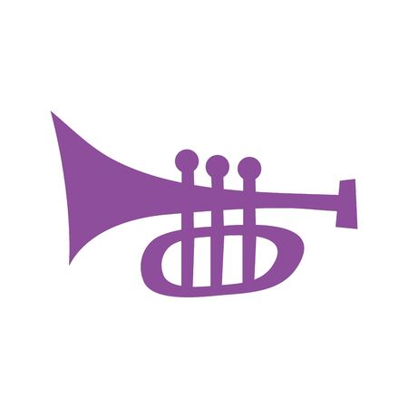 trumpet musical instrument isolated icon vector illustration design Stock fotó - 150416036