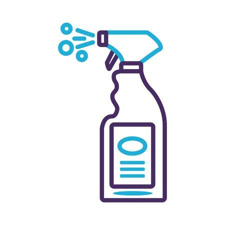 disinfectant spray bottle product line style vector illustration design Stock Illustratie