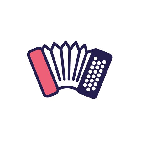 musical accordion instrument fill style icon vector illustration design Stock fotó - 150452071