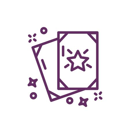 cards with stars magic sorcery vector illustration design
