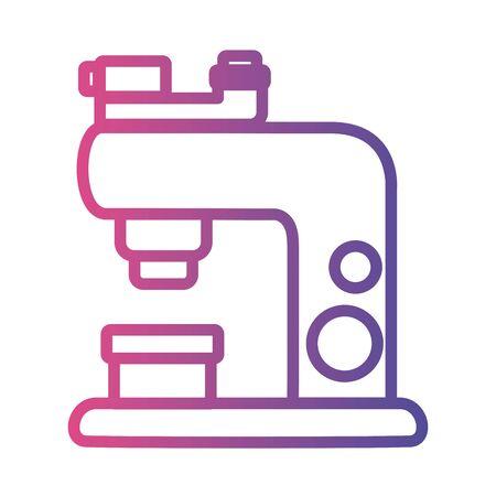 microscope laboratory tool linear gradient style icon vector illustration design Illusztráció