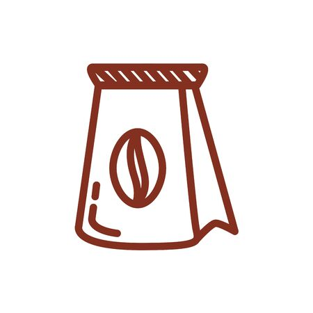 coffee sack product line style icon vector illustration design