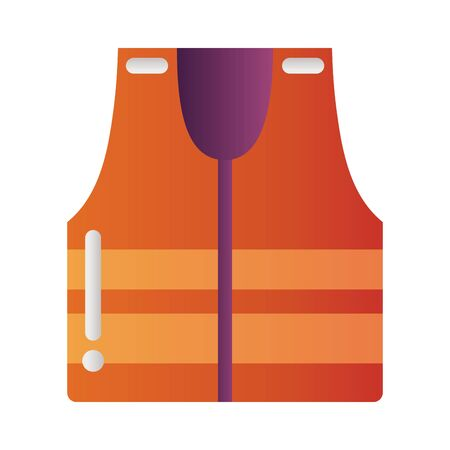 reflective vest protection tool degradient style vector illustration design