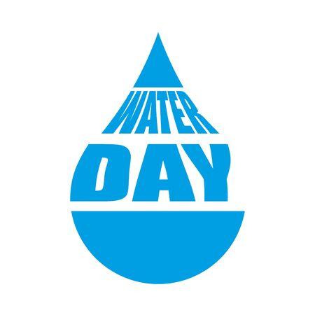 water drop day ecology celebration vector illustration design