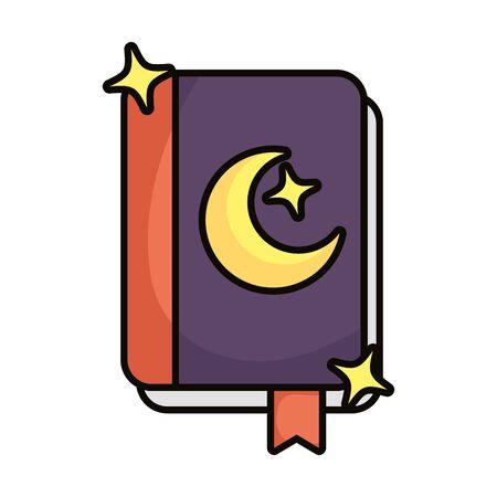magic sorcery book isolated icon vector illustration design Ilustracja