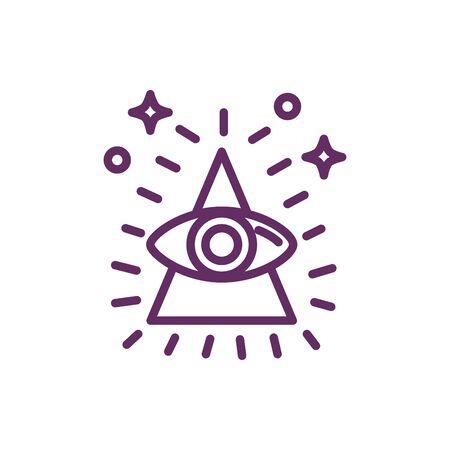 eye in triangle magic sorcery symbol vector illustration design