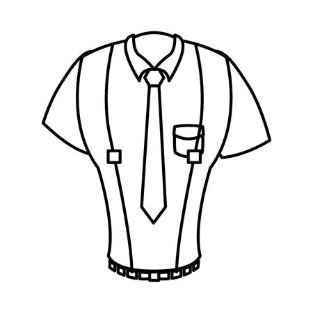 elegant shirt masculine with necktie and loaders vector illustration design
