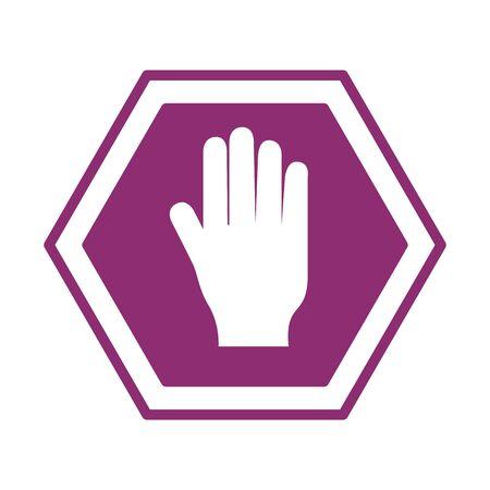 stop traffic signalline style icon vector illustration design