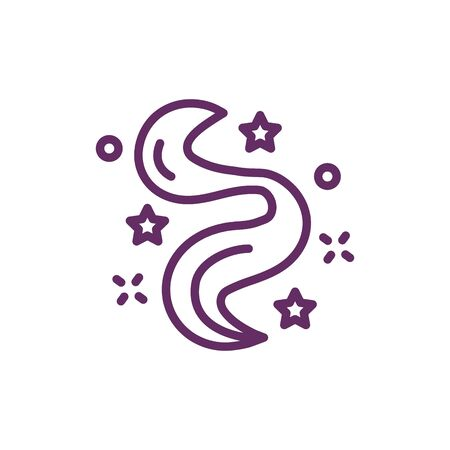 hair with stars magic sorcery icon vector illustration design