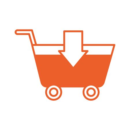 shopping cart market isolated icon vector illustration design