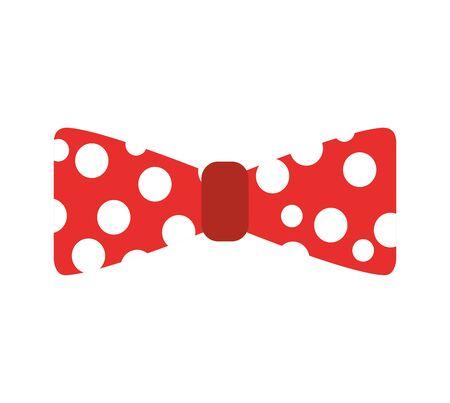 cute bow party icon vector illustration design Vettoriali