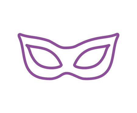 mardi gras celebration mask icon vector illustration design