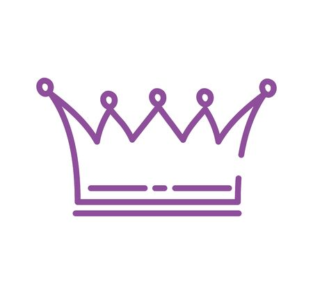 queen crown royal isolated icon vector illustration design