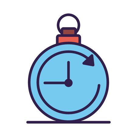 timer chronometer counter line and fill style vector illustration design Illustration