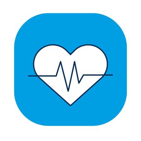 medical heart cardiology pulse icon vector illustration design