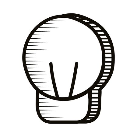 bulb light doodle line style icon vector illustration design Vectores